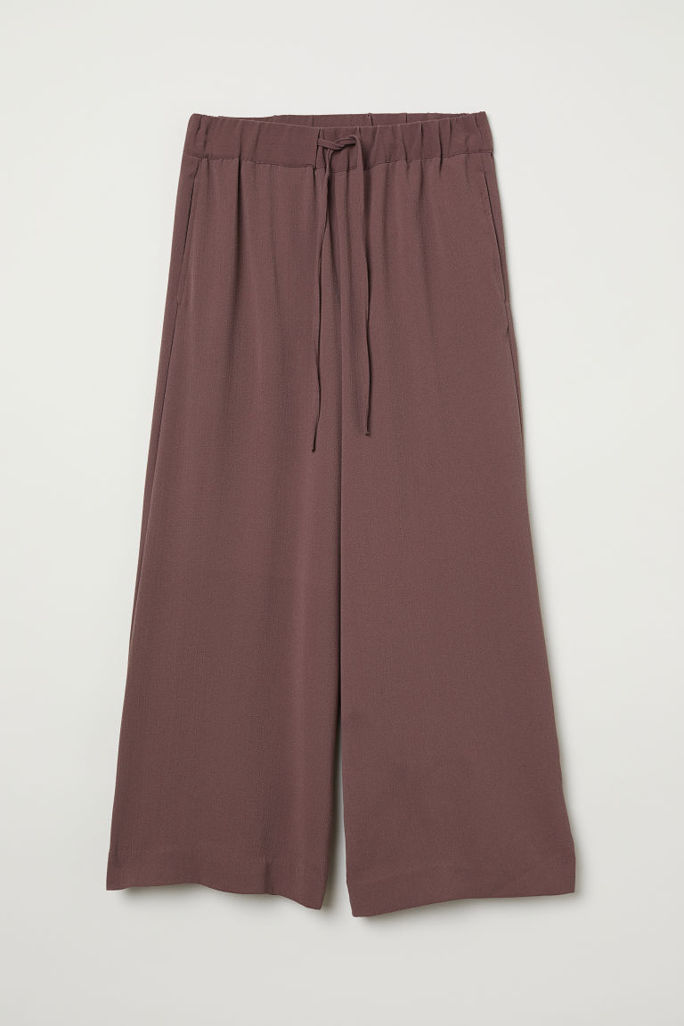 Wide trousers - Dark plum - Ladies | H&M CN