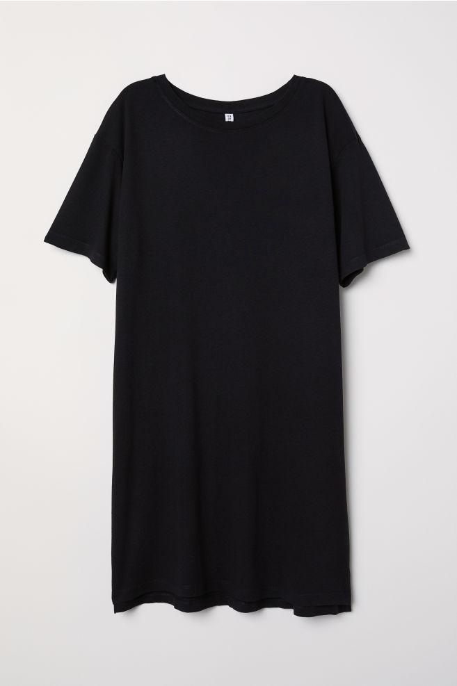 6377ec019d3 T-shirt dress - Black - Ladies