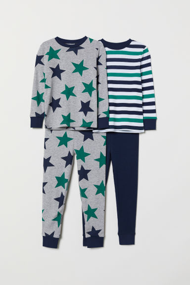 2-pack pyjamas - Grey marl/Stars - Kids | H&M