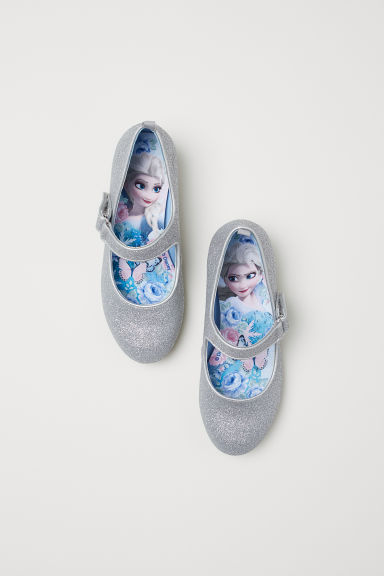 Glittery dressing-up shoes - Silver-coloured/Glittery - Kids | H&M