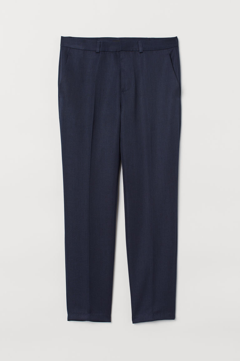 Suit trousers Skinny Fit - Dark blue marl - Men | H&M CN