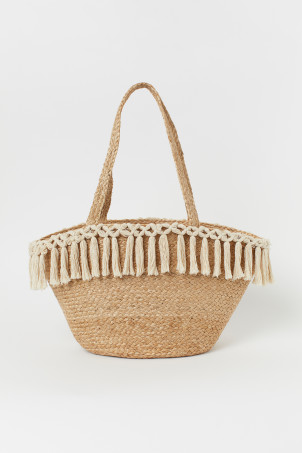 Tasselled beach bag
