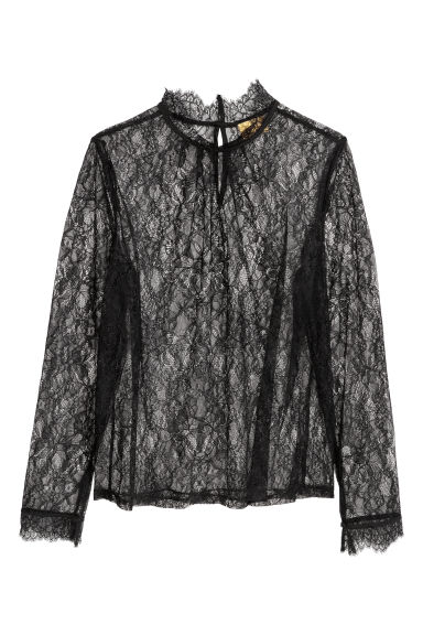 Lace top - Black -  | H&M