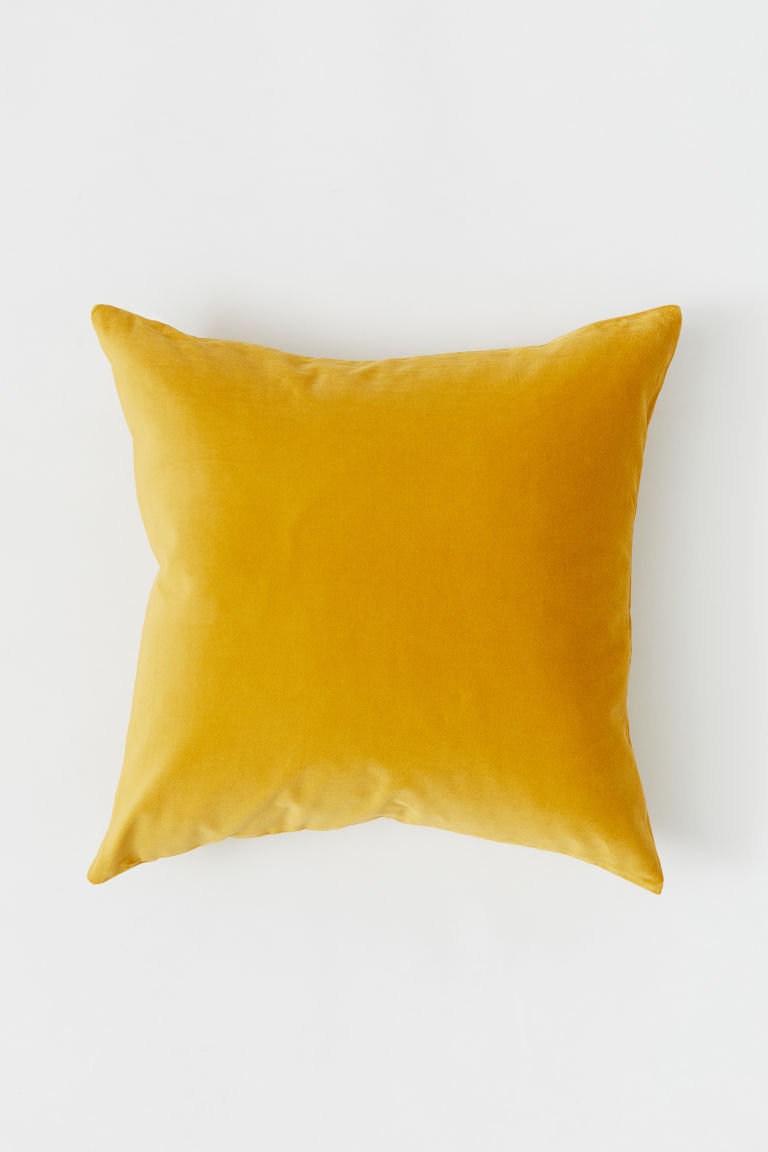 Velvet cushion cover - Mustard yellow - Home All | H&M GB