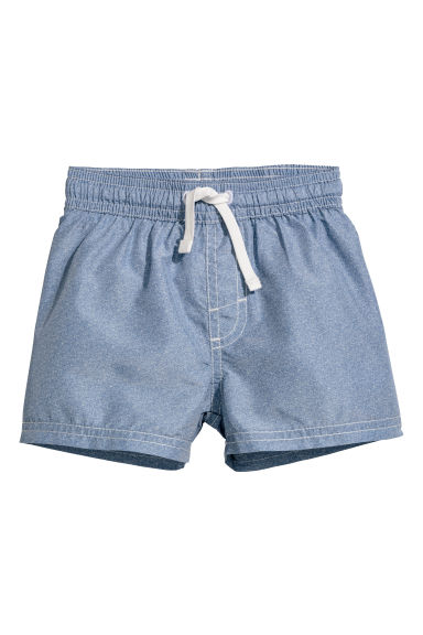 Patterned swim shorts - Blue/Chambray - Kids | H&M CN
