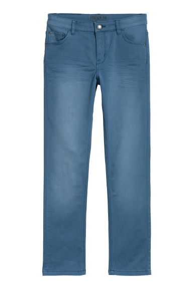 Stretch twill trousers - Blue -  | H&M CN