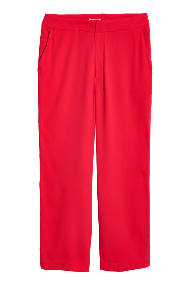 H&M+ Wide suit trousers - Red - Ladies | H&M CN