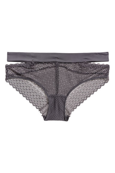 Lace hipster briefs - Dark grey - Ladies | H&M GB