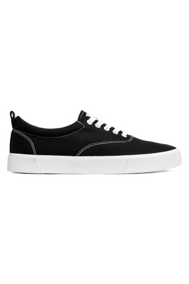 Cotton Fabric Shoes - Black - Men | H&M CA