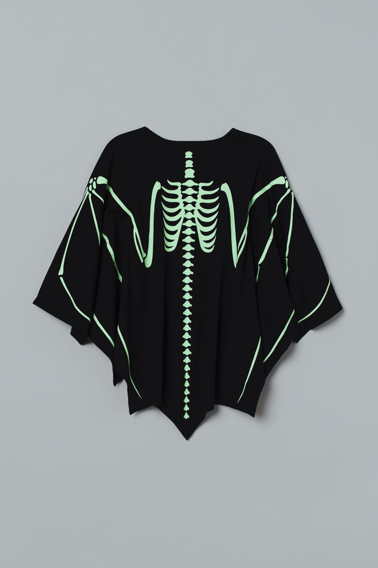 Masquerade Cape - Black/bat skeleton - Kids | H&M CA