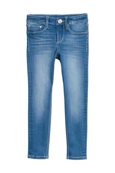Skinny Fit Satin Jeans - Denim blue - Kids | H&M