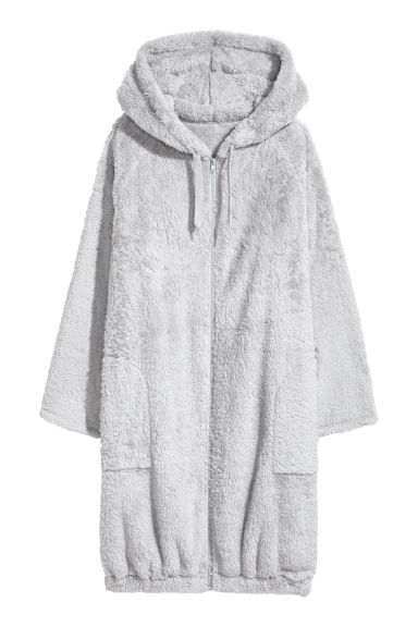 Hooded dressing gown - Light grey - Ladies | H&M CN
