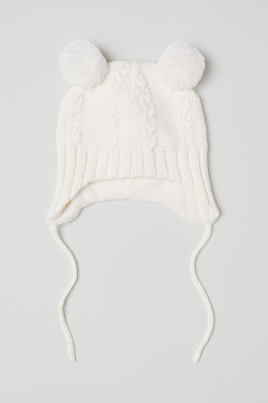 Knit Hat - White/cable-knit - Kids | H&M US