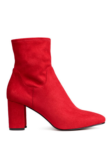 Ankle boots - Red -  | H&M