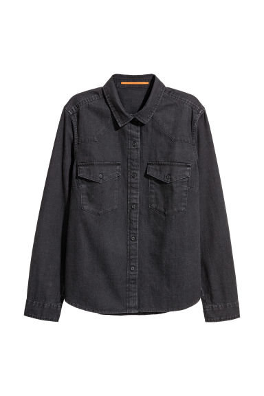 Denim shirt - Black -  | H&M CN