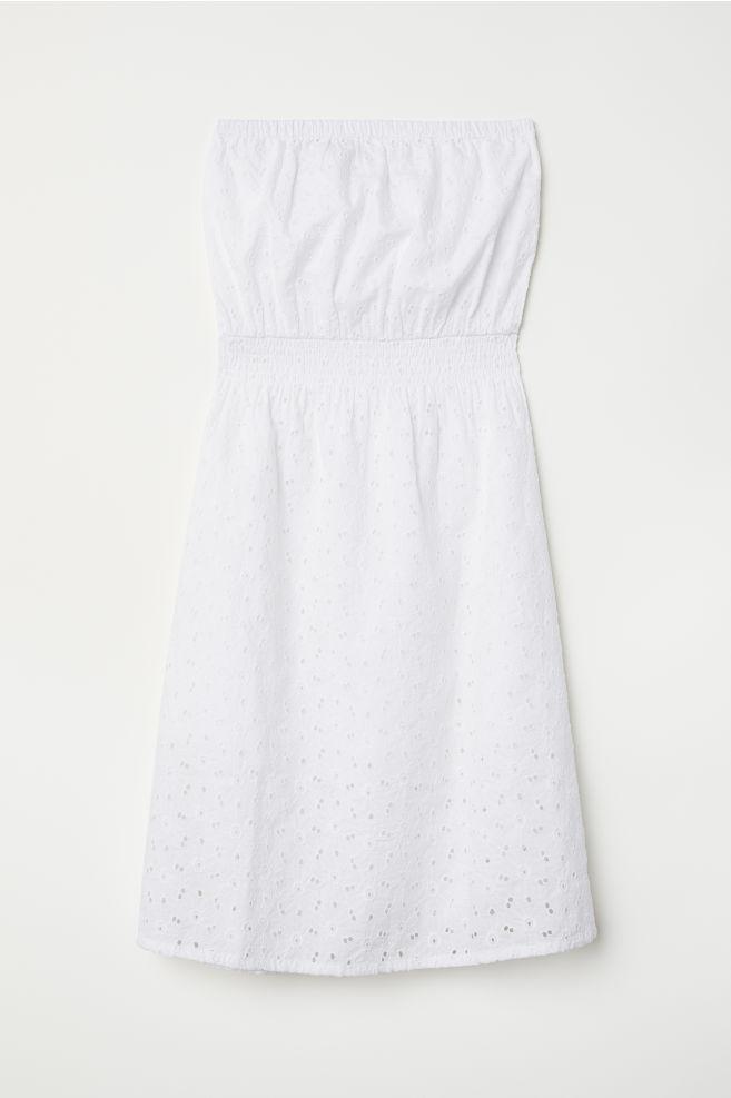 df928e4d416 Azsúrozott ruha - Fehér - NŐI | H&M ...