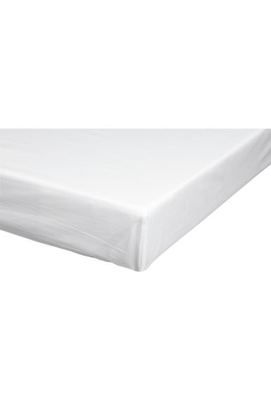 Cotton undersheet - White - Home All | H&M CN