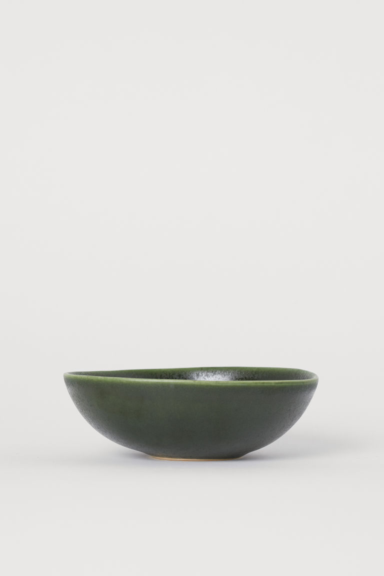 Stoneware Bowl - Dark green - Home All | H&M US