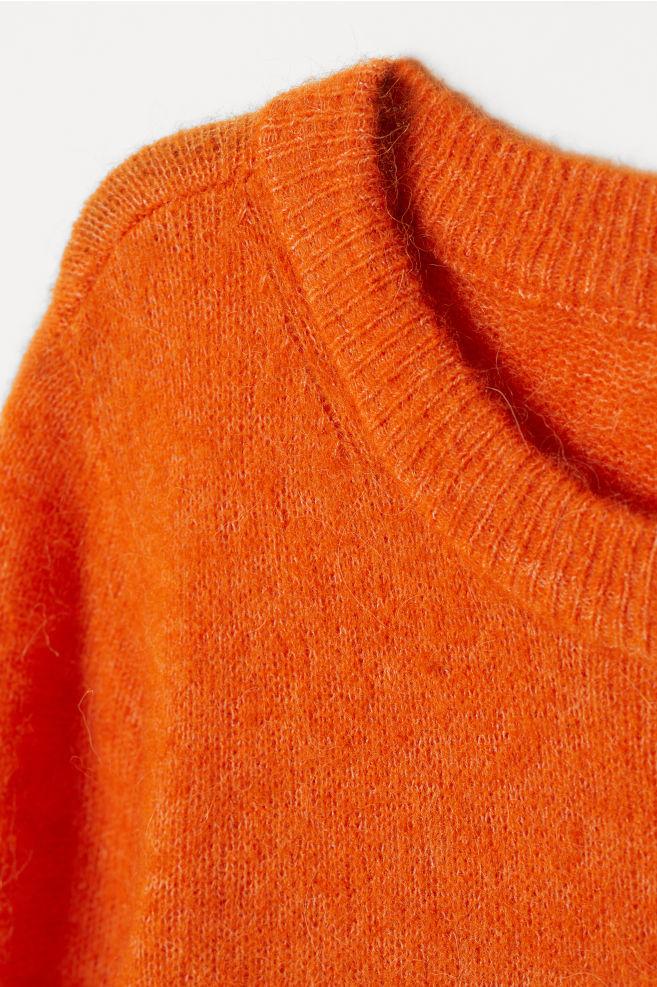 ... Jersey en mezcla de lana - Naranja - MUJER  ce8ab599f54a