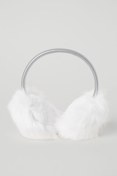 Faux Fur Earmuffs - White - Kids | H&M US