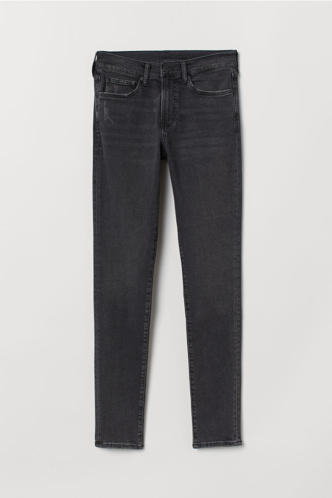 82a0d27f8e63a0 Skinny Jeans - Black/Washed out - Men   H&M ...