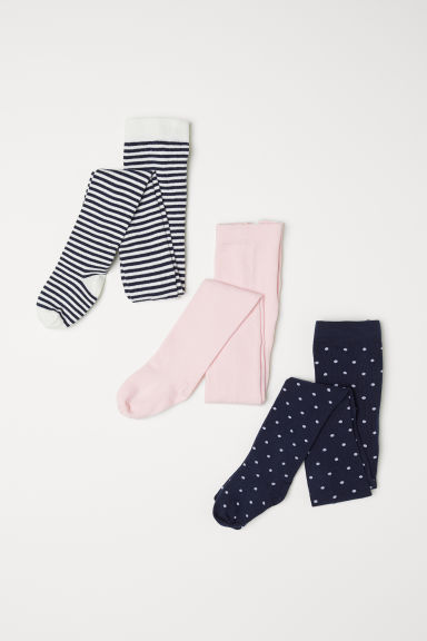 3-pack tights - White/Striped - Kids | H&M