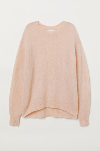 Mohair-blend Sweater - Light pink - Ladies | H&M US