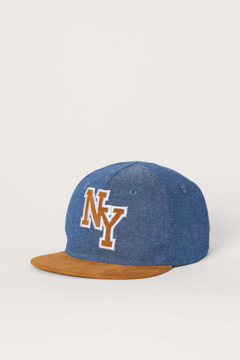 Cap with an appliqué - Denim blue/NY - Kids | H&M IN
