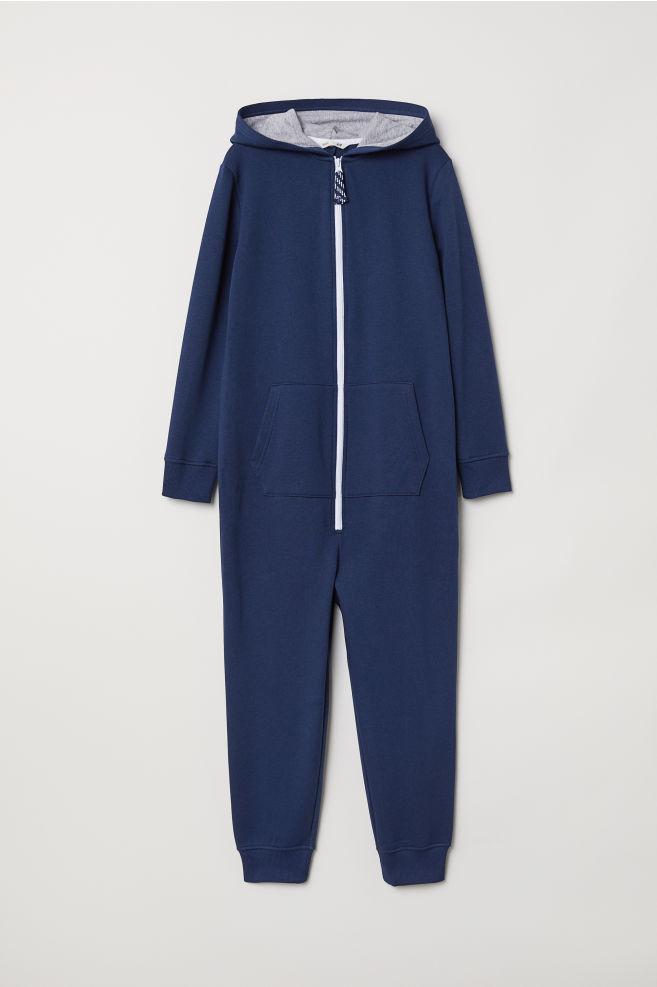 df582ec1833 Hooded jumpsuit - Dark blue - Kids
