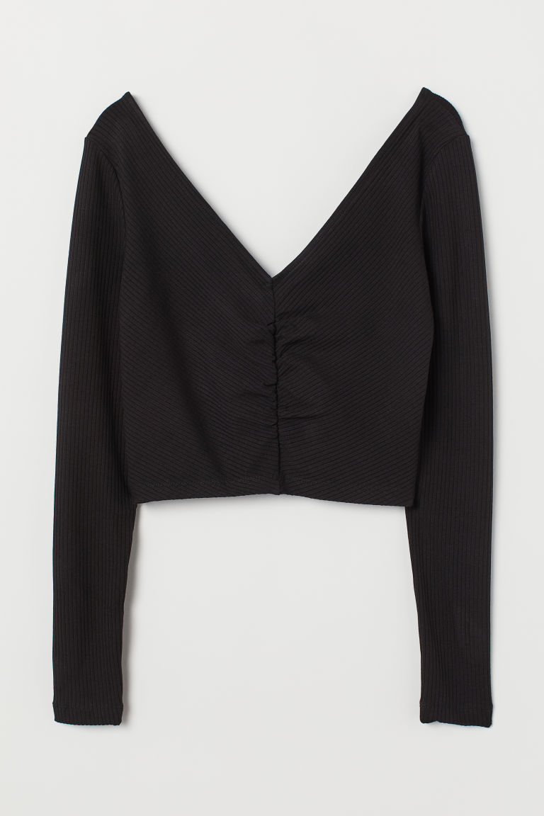 Short Top - Black -  | H&M US