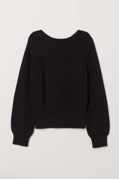 Ribbed jumper - Black - Ladies | H&M