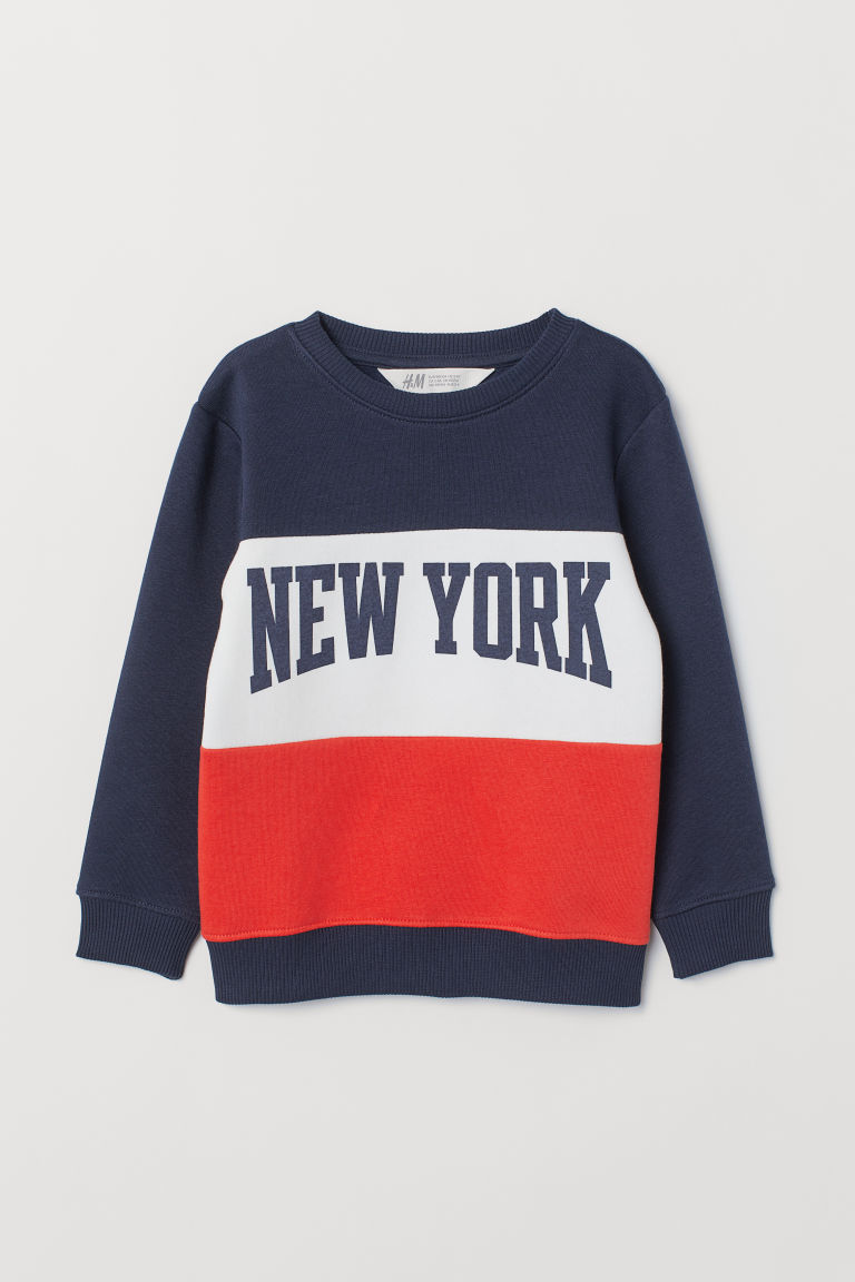 Printed sweatshirt - Dark blue/New York -  | H&M