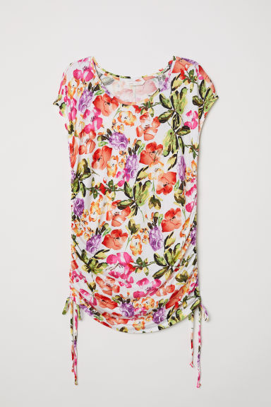 MAMA Jersey top - White/Floral - Ladies | H&M CN