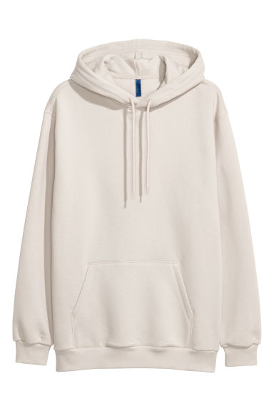 Hooded top - Light beige - Men | H&M