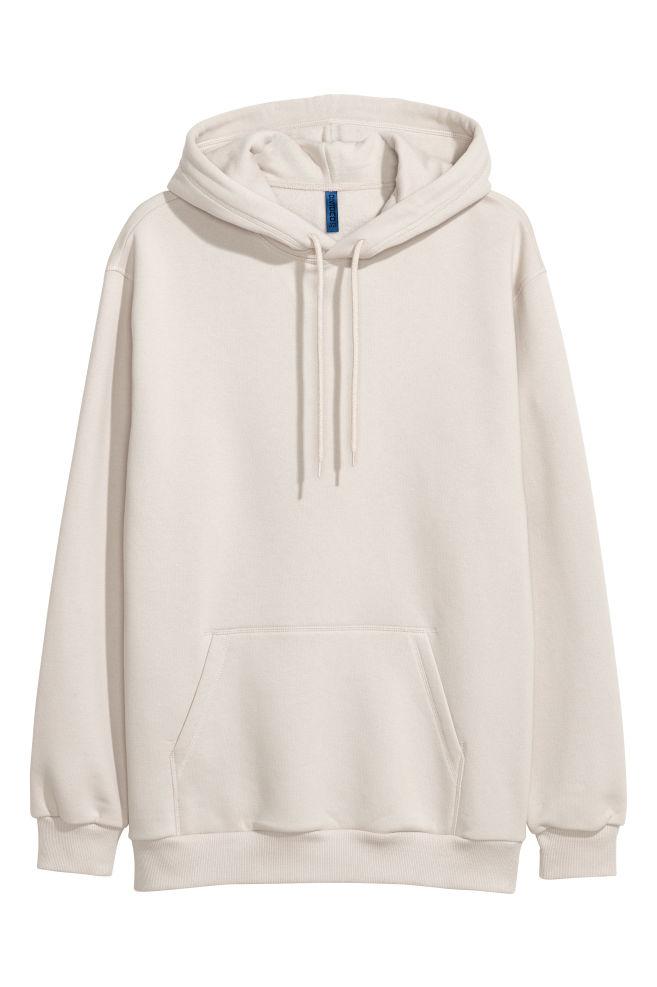 df7350e63319 Hooded Sweatshirt - Light beige - Men | H&M ...