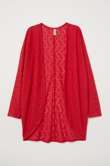 Lace cardigan - Red -  | H&M CN