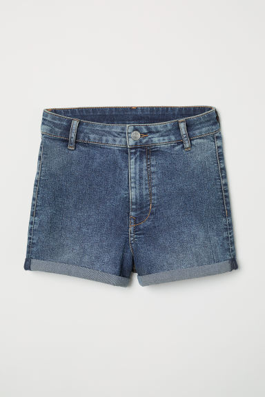 Short en twill Taille haute - Bleu denim -  | H&M BE