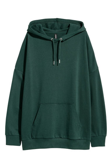 Hooded top - Dark green - Ladies | H&M