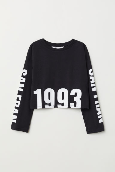 Printed top - Black/San Fran - Kids | H&M CN