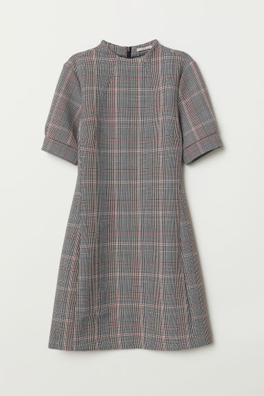 Tailored dress - Black/Checked - Ladies | H&M