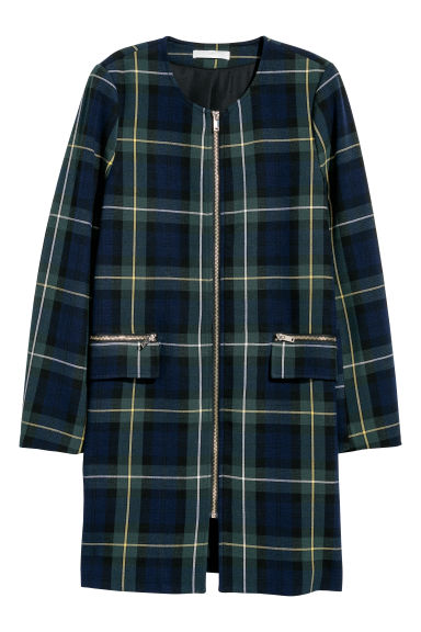 Short coat - Dark green/Checked -  | H&M CN