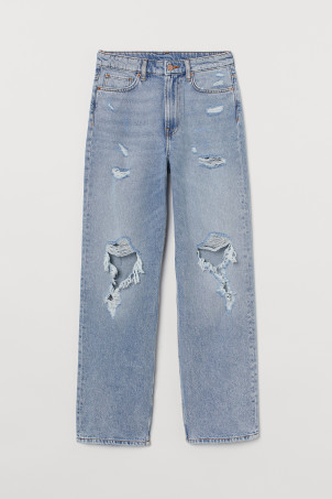 Loose Straight High Jeans