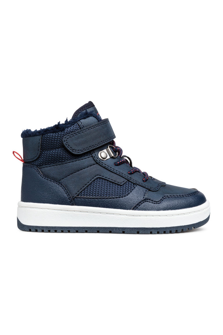 Sneakers alte foderate - Blu scuro - BAMBINO | H&M IT