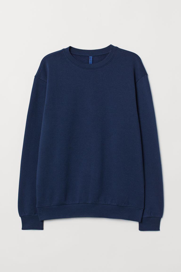 Sweatshirt - Dark blue - Men | H&M