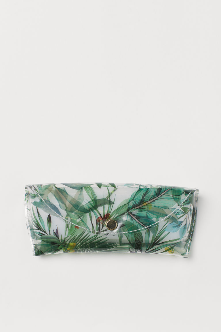 Glasses case - White/Green patterned - Ladies | H&M
