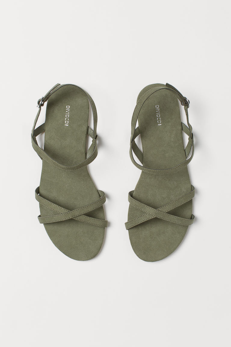 Sandals - Khaki green -  | H&M GB