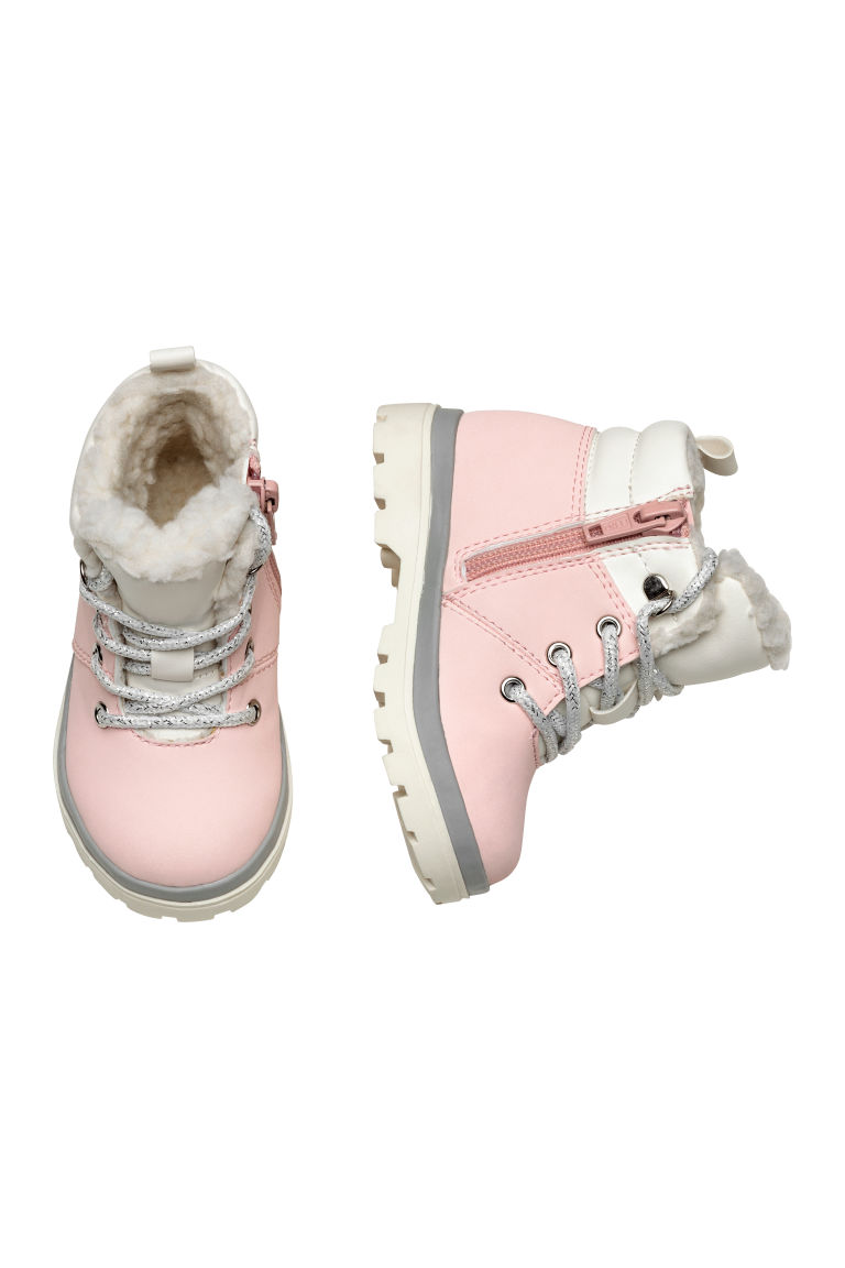 Warm-lined boots - Light pink - Kids | H&M CN