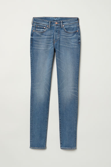 Skinny Jeans - Denimblauw - HEREN | H&M BE