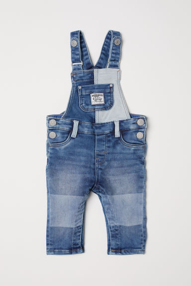 Salopette in denim - Blu denim - BAMBINO | H&M IT
