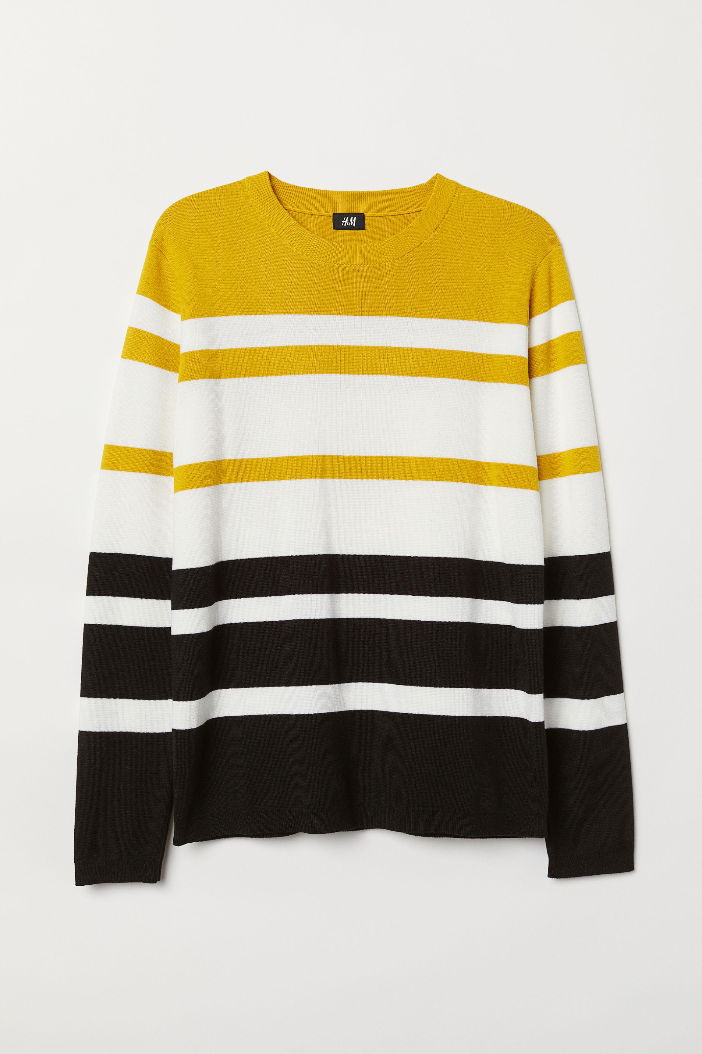 109fb97faa7 Striped Cotton-blend Sweater - Yellow striped - Men